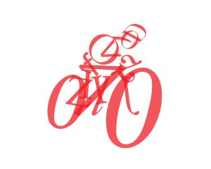 Typographic Bicyclist